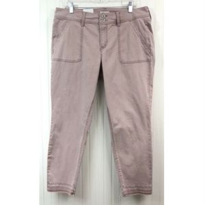 Style & Co. NWT Cropped Ankle Jeans Pink Slim Leg